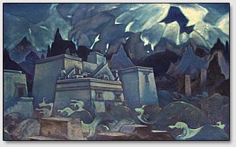 """Картина """"Гибель Атлантиды"""", Н.К.Рерих, 1929 г."""