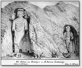 Бамианские колоссы на рисунках Александра Барнеса (Alexander Burnes, 1805-1841).