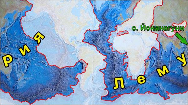 Положение Тонгатапу на материке Лемурия