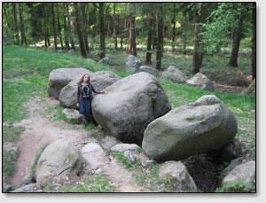 Гробница великанов гюнов мегалитический эпохи (Hünengrab der Megalithkulturen) на севере Германии, деревня Барендорф [Barendorf]