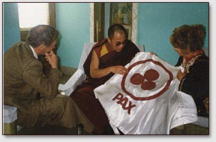 Dalai Lama and A.Rodriquez, 1990