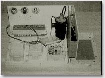 Общий вид собранного лабораторного варианта кирлиан-прибора