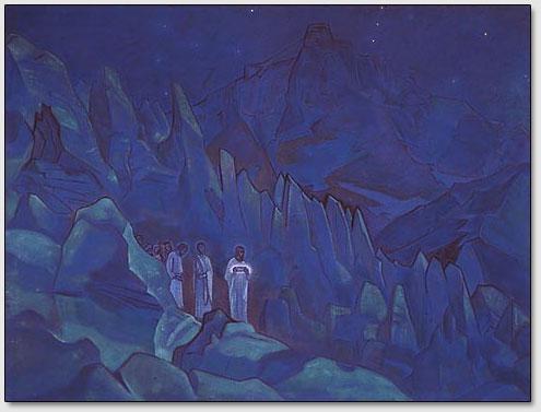 Verbrennung der Finsternis, N.K.Roerich, 1924