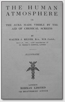 "Portada del libro ""La atmósfera humana"" por Walter J. Kilner"